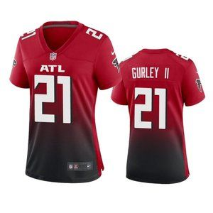 Women Falcons Todd Gurley II Red Jersey